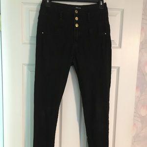 Refuge hi-waist super skinny black jeans. Size 4
